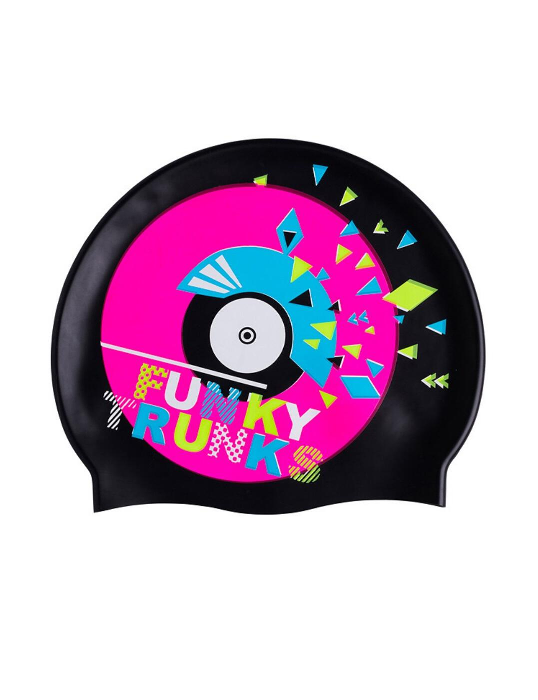 FT9901173 Funky Trunks Silicone Swimming Cap - FT9901173 Disco Stu