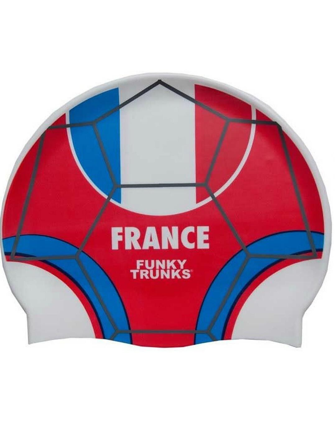 FT9900674 Funky Trunks Silicone Swimming Cap - FT9900674 Les Bleus