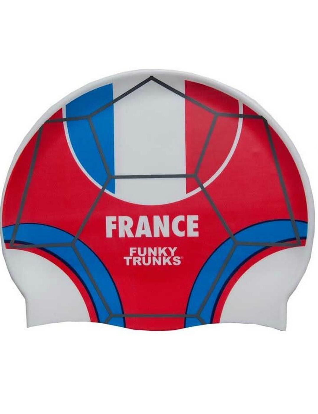FT9900674 Funky Trunks Silicone Swimming Cap - FT9900674 Les Bleus