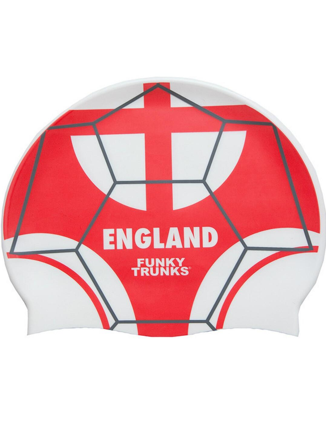 FT9900676 Funky Trunks Silicone Swimming Cap - FT9900676 Three Lions