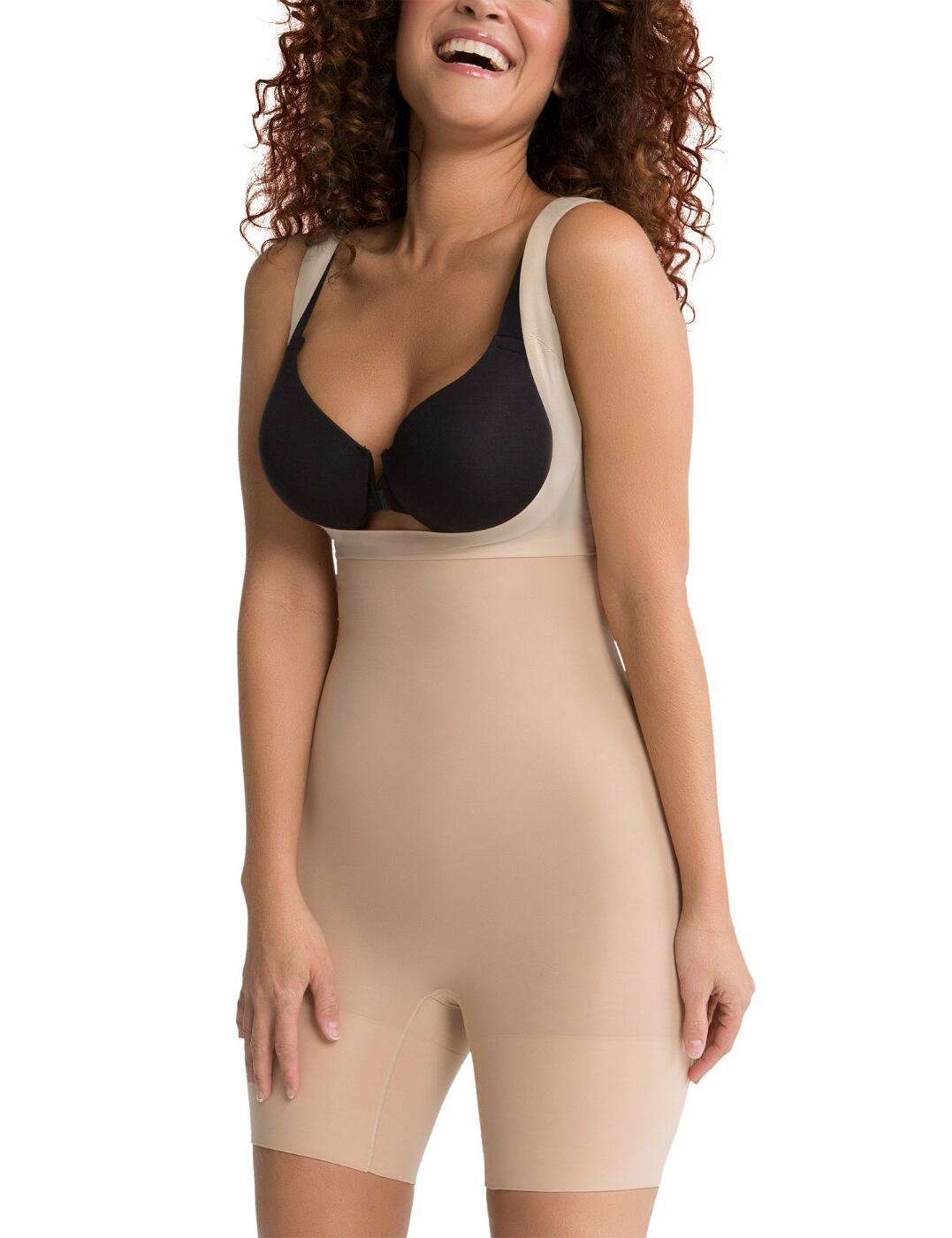 SS5615 Spanx Shape My Day Open Bust Mid-Thigh Body - SS5615 Natural