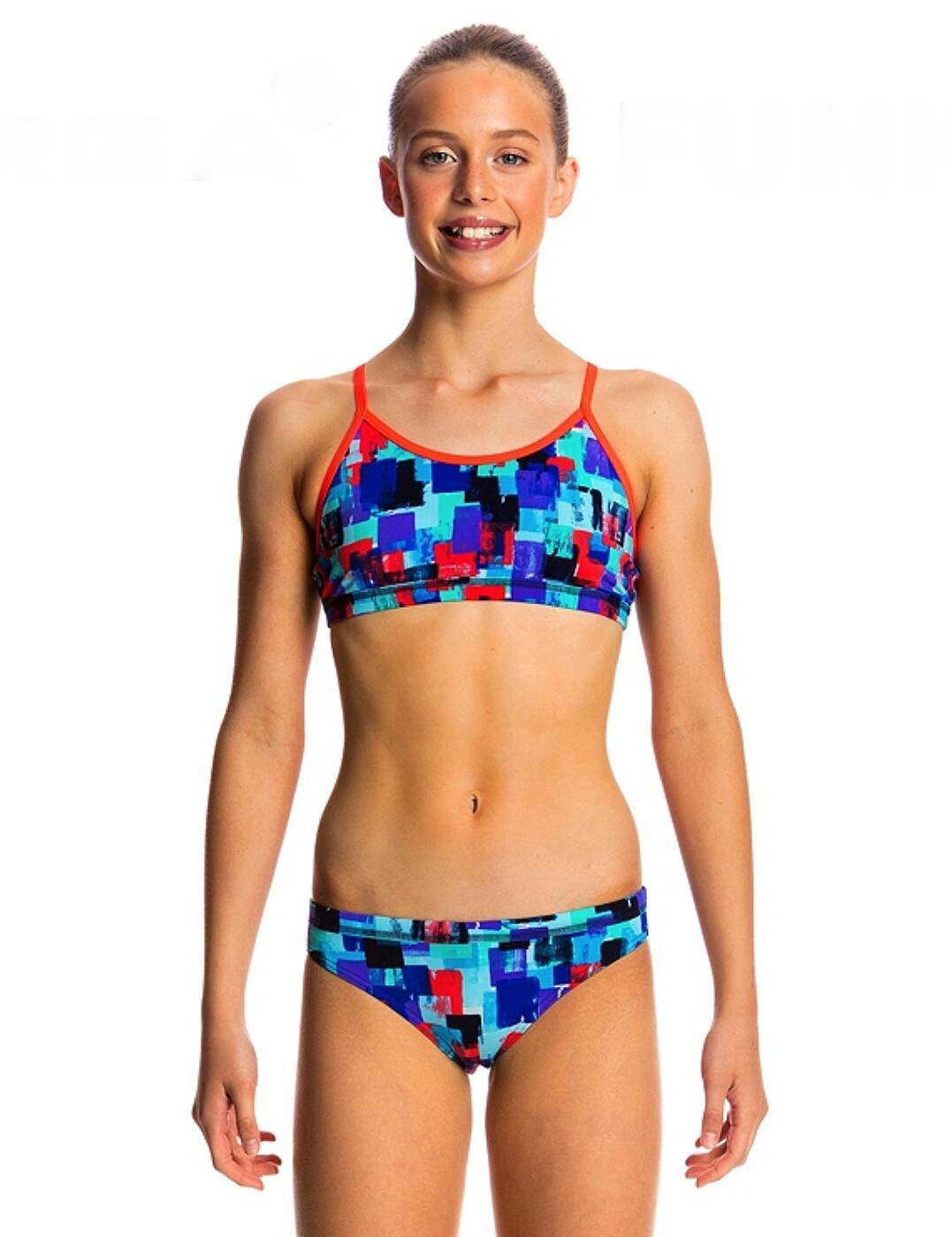 FS02G01762 Funkita Girls Racerback Two Piece Bikini Set - FS02G01762 Vincent Van Funk