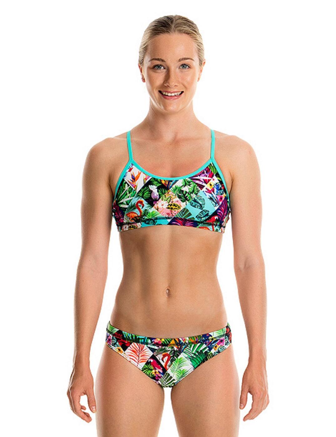 FS02G01508 Funkita Girls Racerback Two Piece Bikini Set - FS02G01508 Jungle Jam