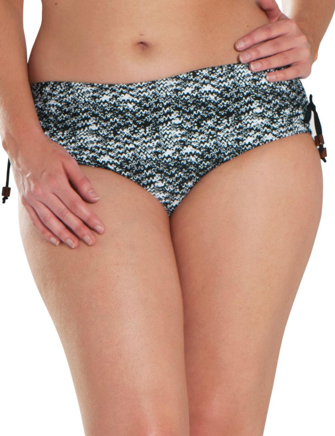 CS4903 Curvy Kate Diffuse Retro Bikini Short - CS4903 Black/White