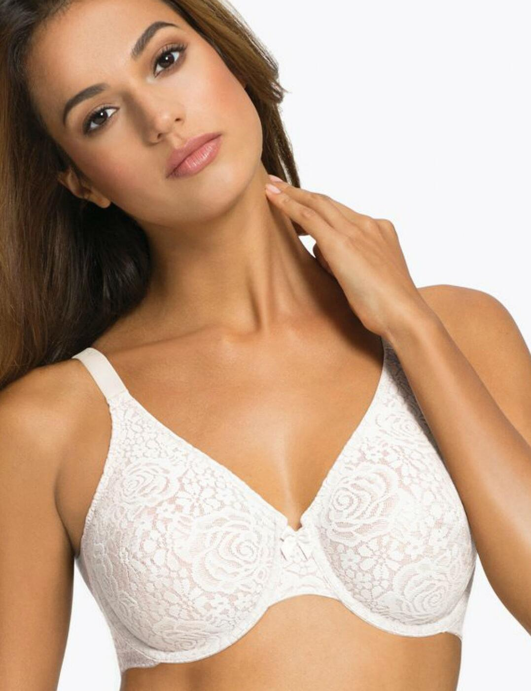 851205 Wacoal Halo Lace Underwired Bra  - 851205 Ivory