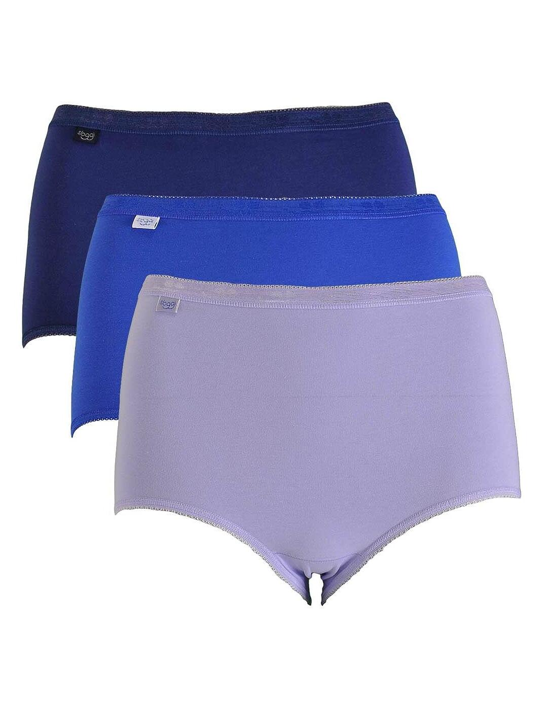 10105593 Sloggi Basic Maxi Brief 3 Pack - 10105593 Blue/Lilac/Navy