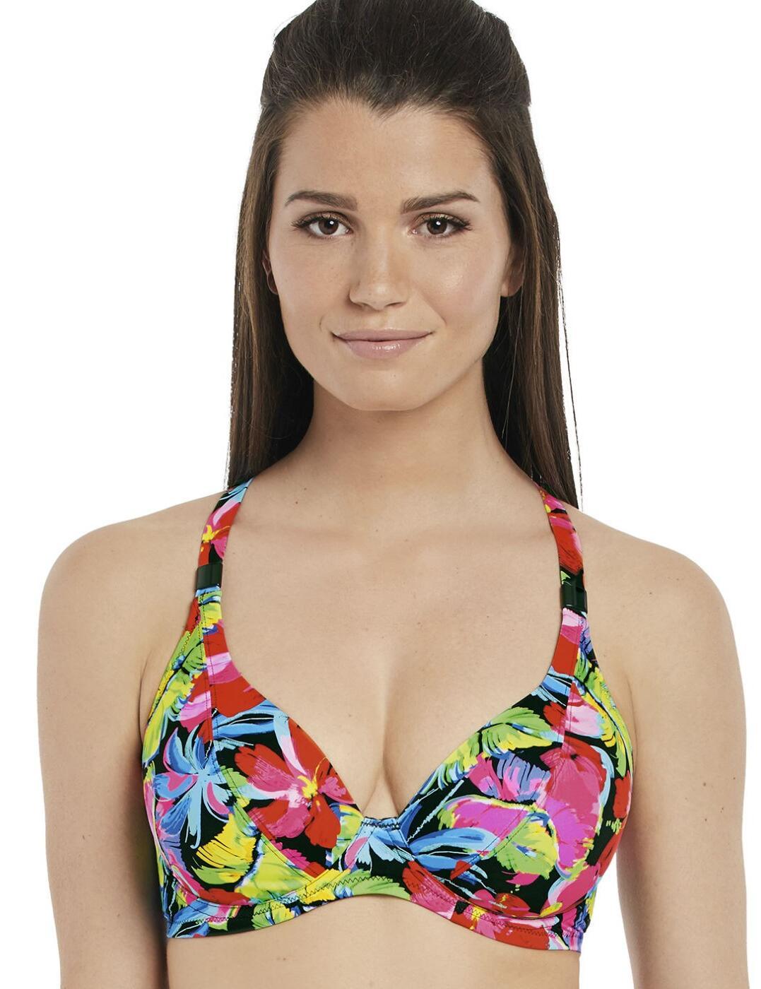 6466 Fantasie Santa Barbara Plunge Convertible Bikini Top - 6466 Multi