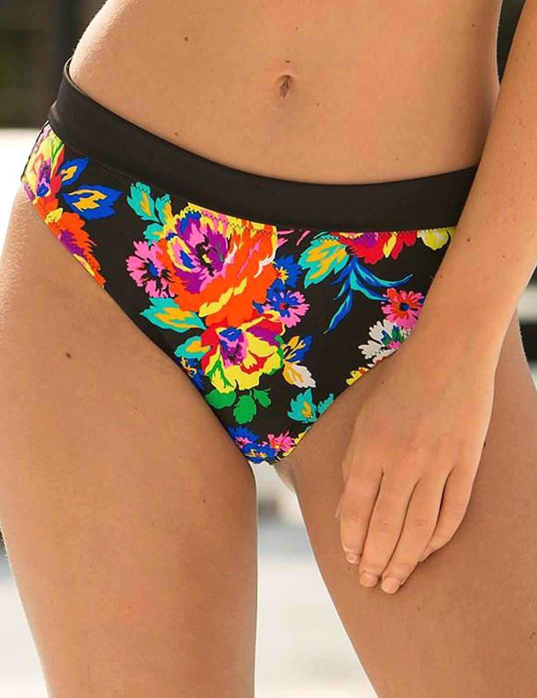 63004 Pour Moi? Black Dahlia Bikini Brief - 63004 Black/Multi