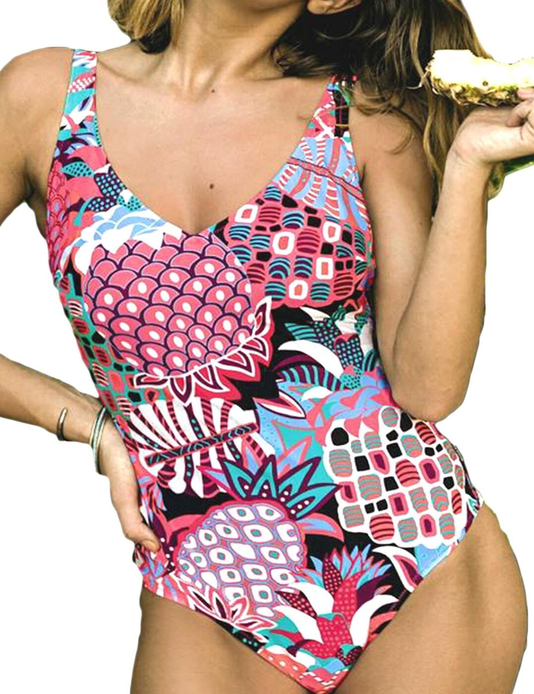7733 Rosa Faia by Anita Carina Non-Wired Swimsuit - 7733 Fuchsia Purple (Multi Print)