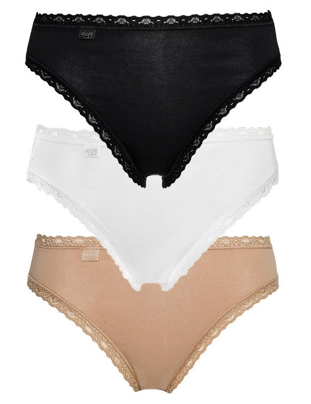 Sloggi Touch It Cotton H Hipster Brief 10146288 2 Pack Knickers 2 Pack