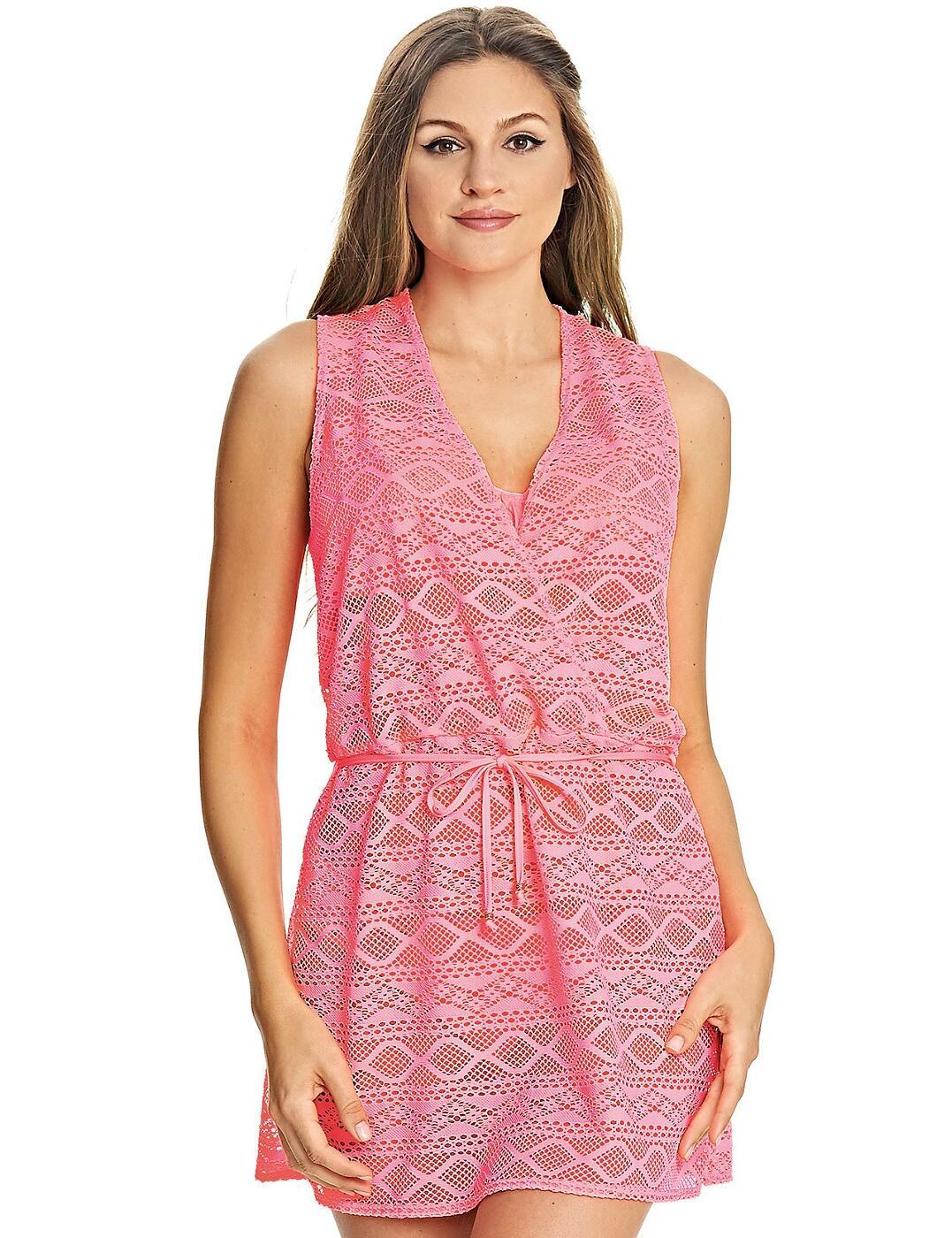 3978 Freya Sundance Cross Over Beach Dress  - 3978 Flamingo