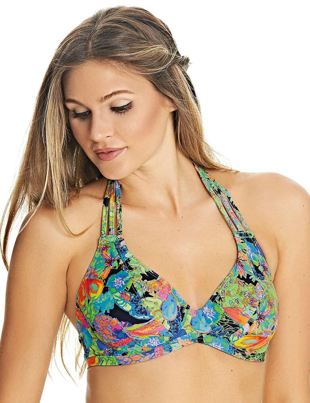 2980 Freya Island Girl Banded Halter Bikini Top - 2980 Black