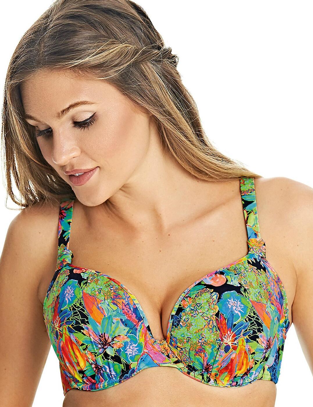 2985 Freya Island Girl Underwired Bandless Deco Moulded Bikini Top - 2985 Black