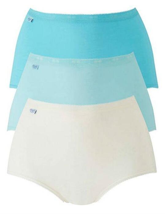 10105593 Sloggi Basic Maxi Brief 3 Pack - 10105593 Turquoise/Light Combination