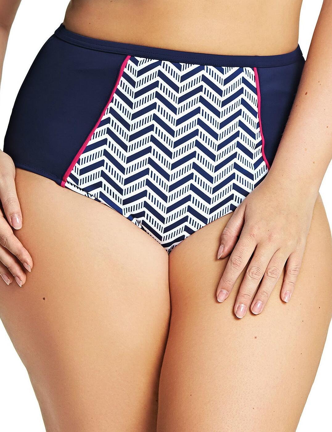 7453 Elomi Chevron Classic Bikini Brief - 7453 Midnight