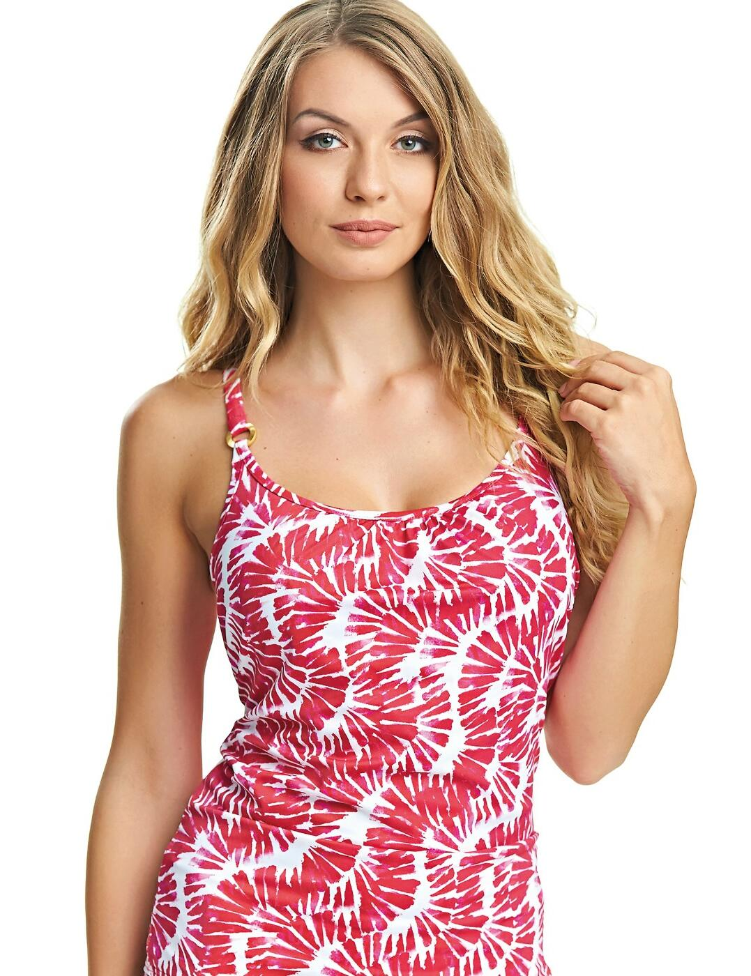6314 Fantasie Lanai Scoop Neck Tankini Top - 6314 Rose Red