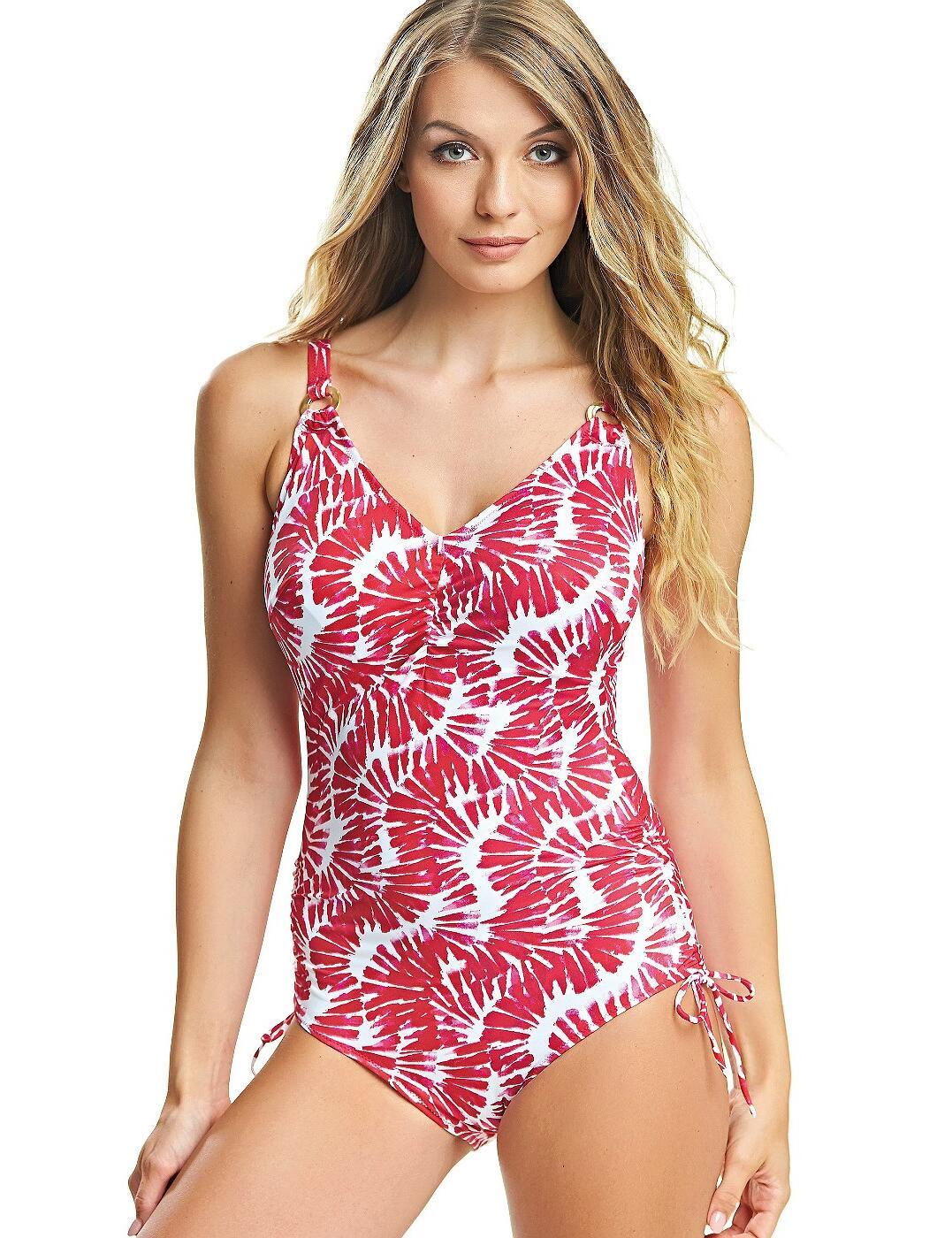 6319 Fantasie Lanai Adjustable Leg Swimsuit  - 6319 Rose Red
