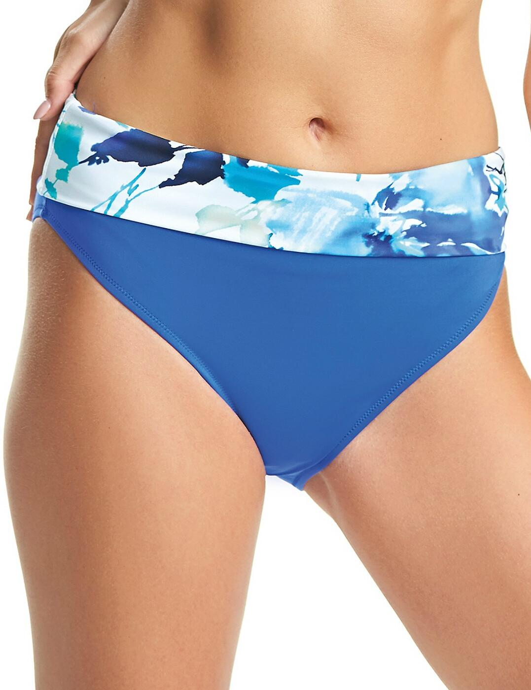6372 Fantasie Capri Classic Fold Over Bikini Brief - 6372 Surf