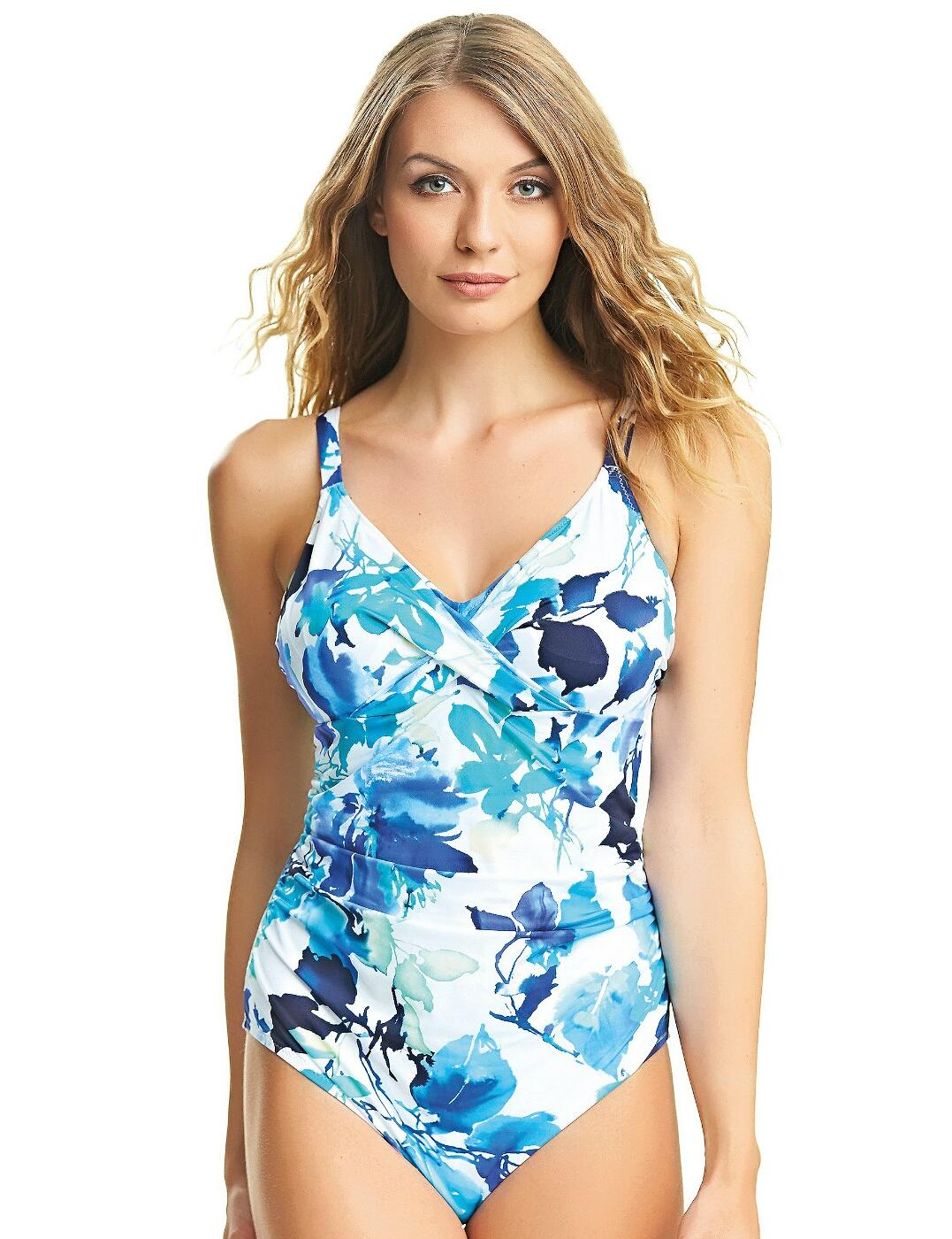 6373 Fantasie Capri Cross Front Smoothing Swimsuit - 6373 Surf