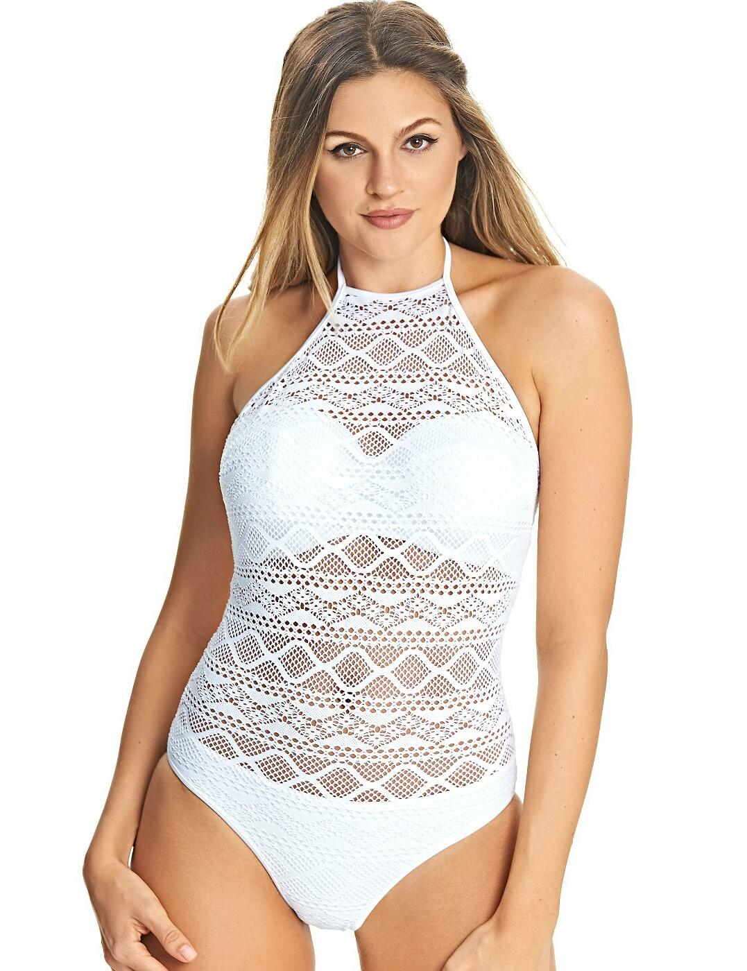 3974 Freya Sundance Underwired High Neck Swimsuit - 3974 White