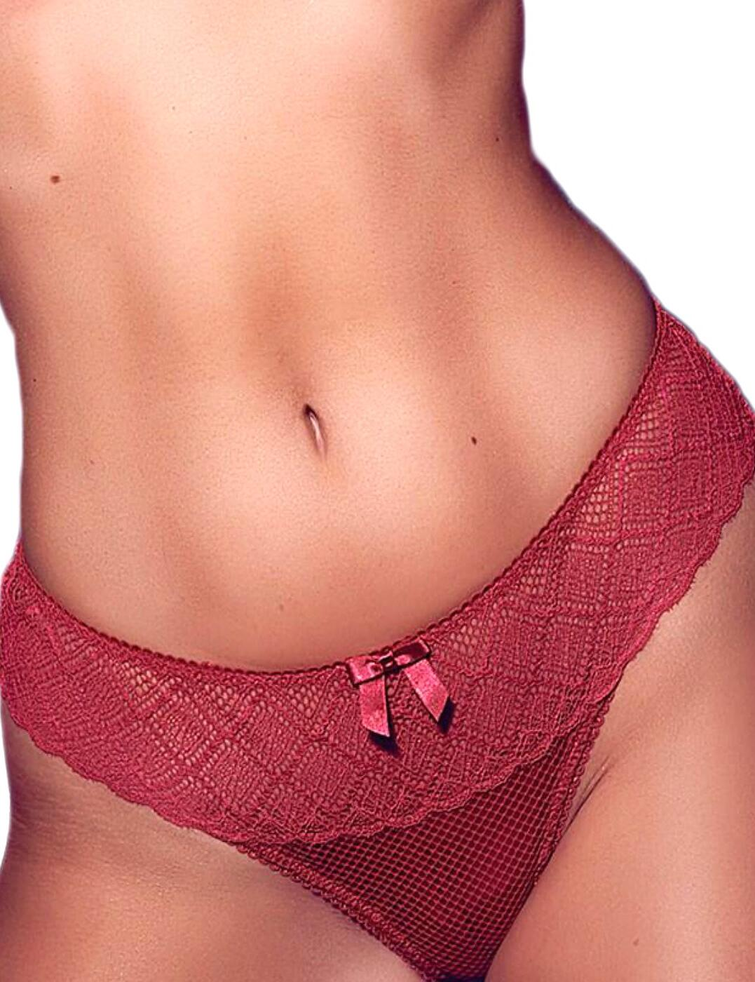 Pour Moi 46004  Electra Thong Pomegranate Red