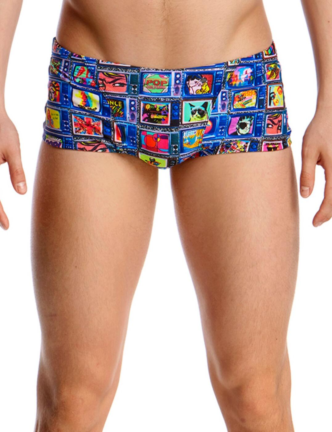 FT30M02008 Funky Trunks Mens Classic Square Eyes Swim Trunks - FT30M02008 Square Eyes