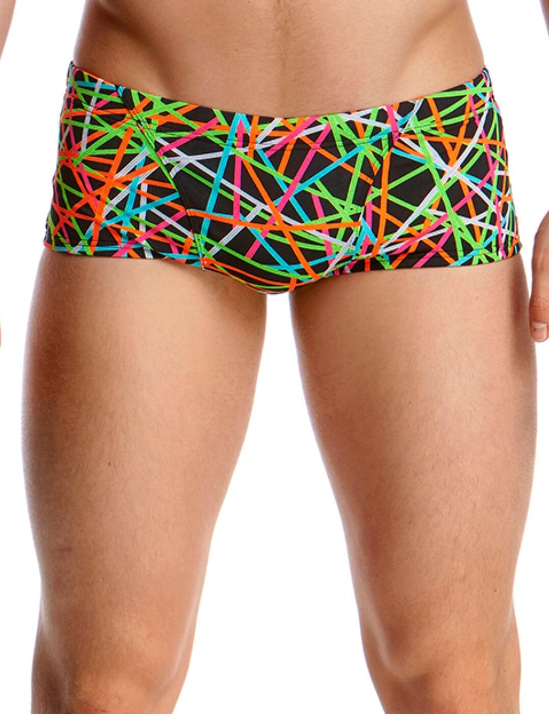 FT30M02005 Funky Trunks Mens Classic Strapped In Swim Trunks - FT30M02005 Strapped In