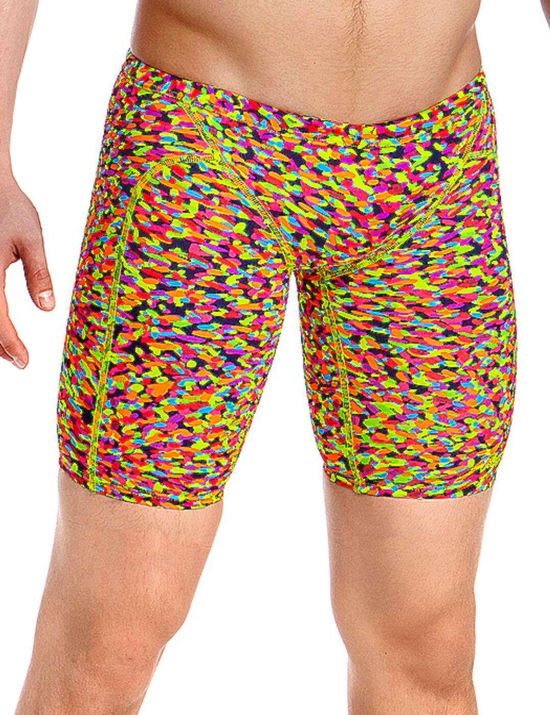 FT37M01977 Funky Trunks Mens Fireworks Training Jammers - FT37M01977 Fireworks