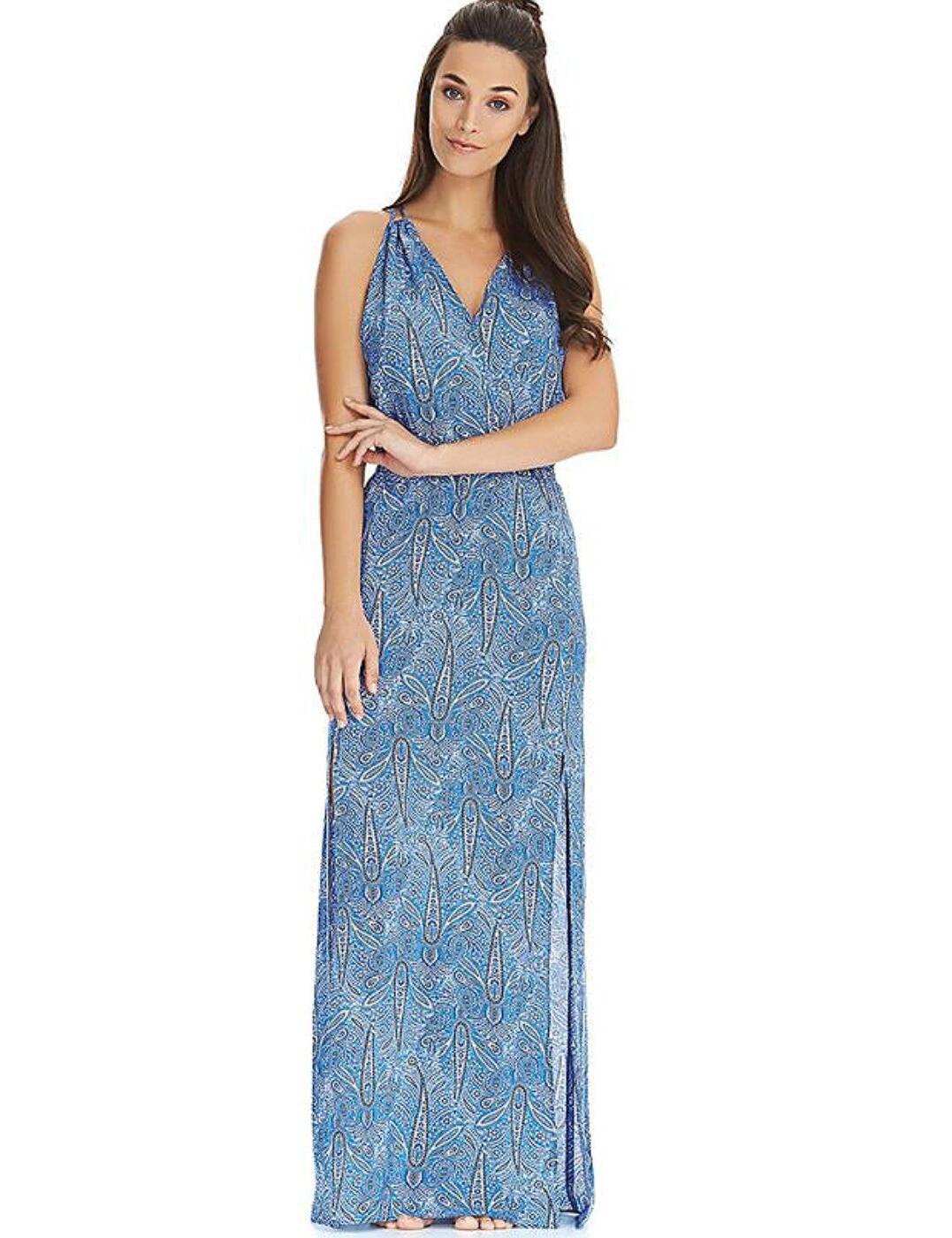 4477 Freya Summer Tide Maxi Beach Dress - 4477 Denim