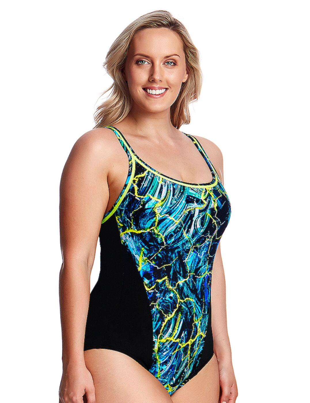 667e80fd3fd2f FS35L01986 Funkita Ladies Midnight Marble Locked In Lucy One Piece Swimsuit