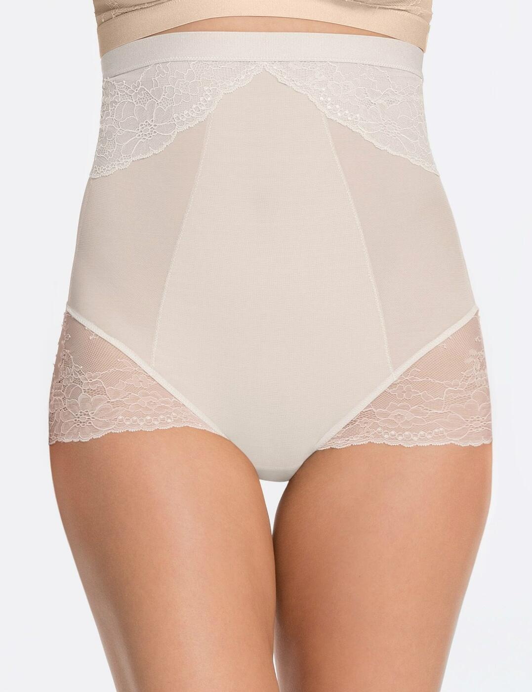 10121R Spanx Spotlight On Lace High Waist Brief - 10121R Clean White