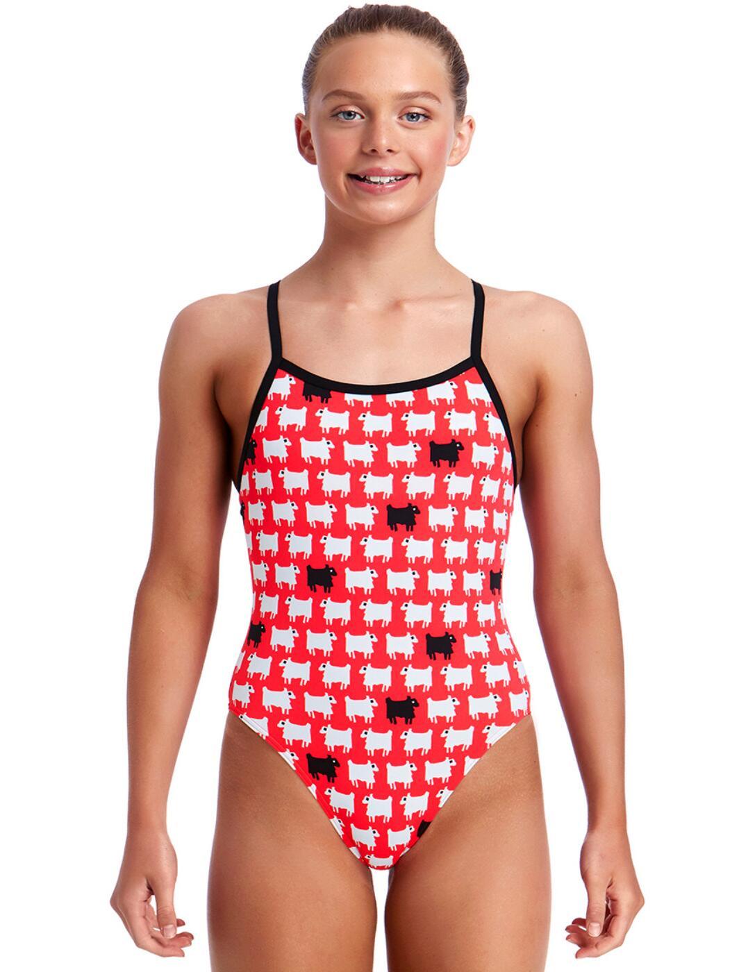 f32d019eda6c9 Funkita Girls Black Sheep Single Strap One Piece Swimsuit FS16G01972 ...