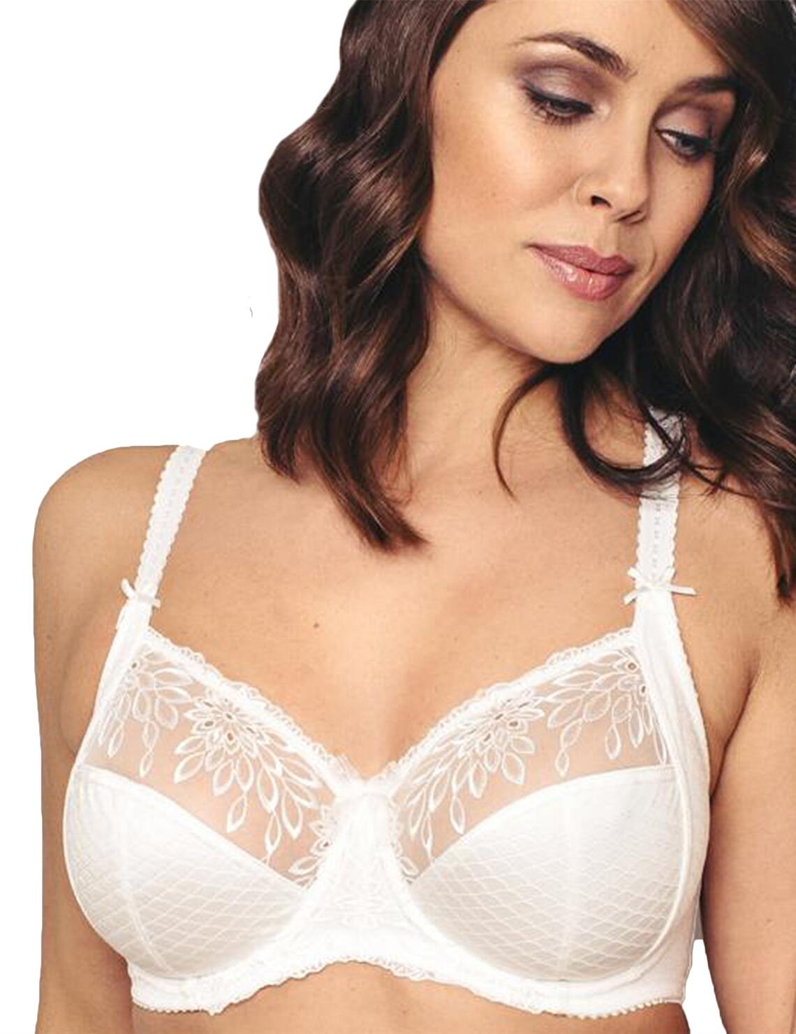 3829 Pour Moi Hepburn Embroidered Side Support Bra - 3829 Ivory