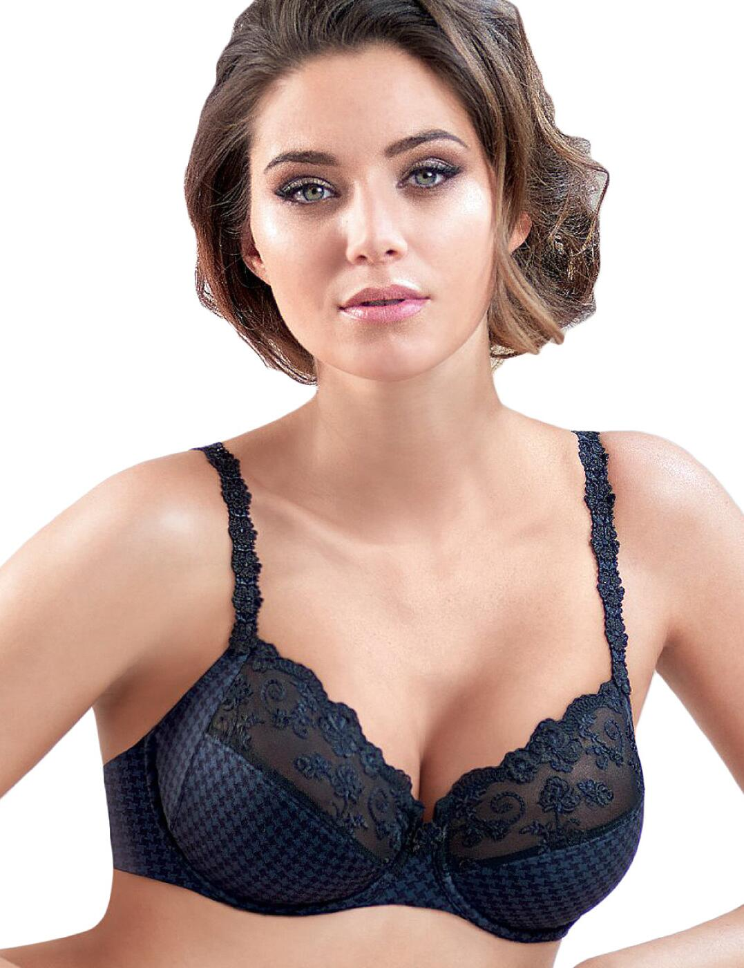 5674 Rosa Faia by Anita Josephine Underwired Balcony Bra - 5674 Navy/Black