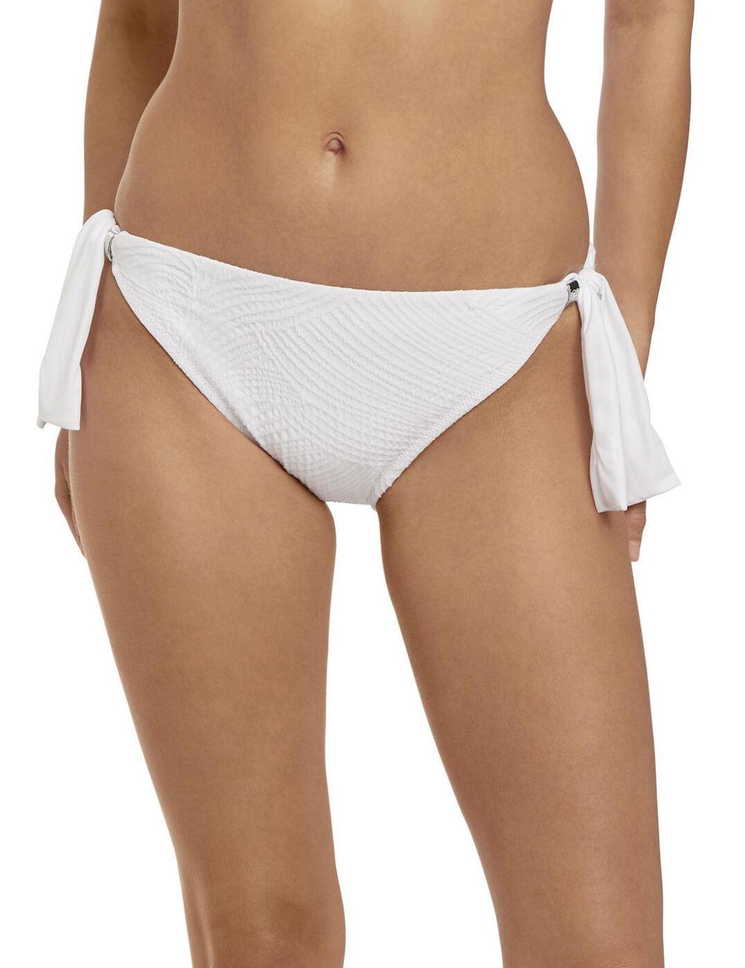 6357 Fantasie Ottawa Classic Scarf Tie Bikini Brief - 6357 White