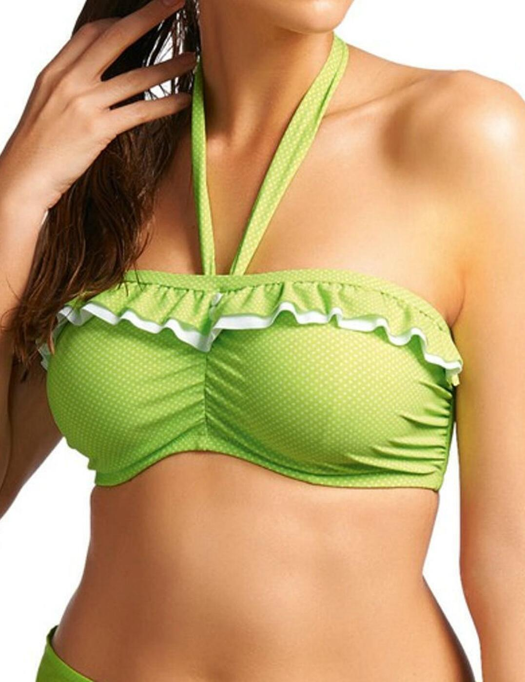 3362 Freya Cherish Underwire Bandeau Bikini Top - 3362 Lime Green