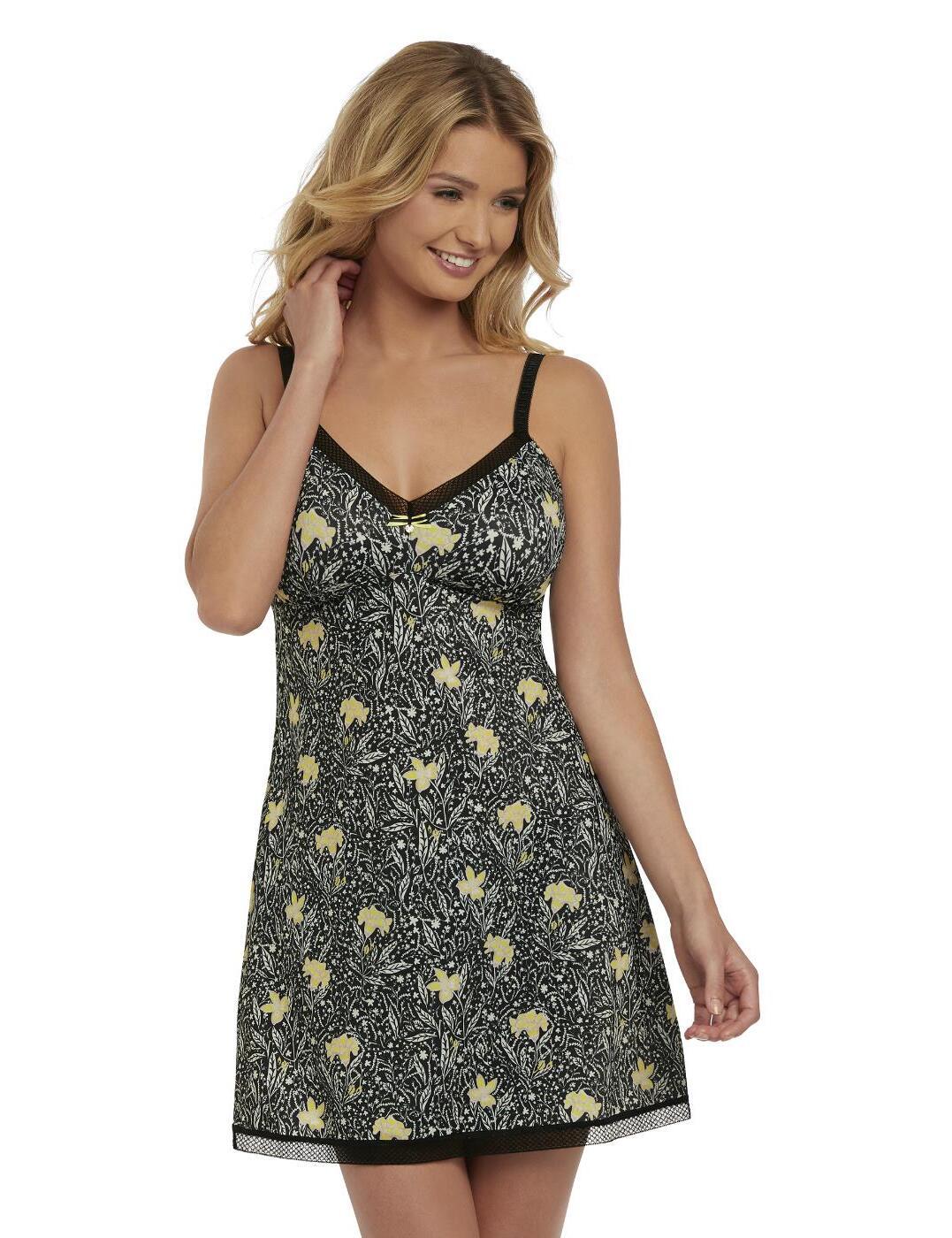 5189 Freya Floral Bonanza Chemise - 5189 Black/Floral