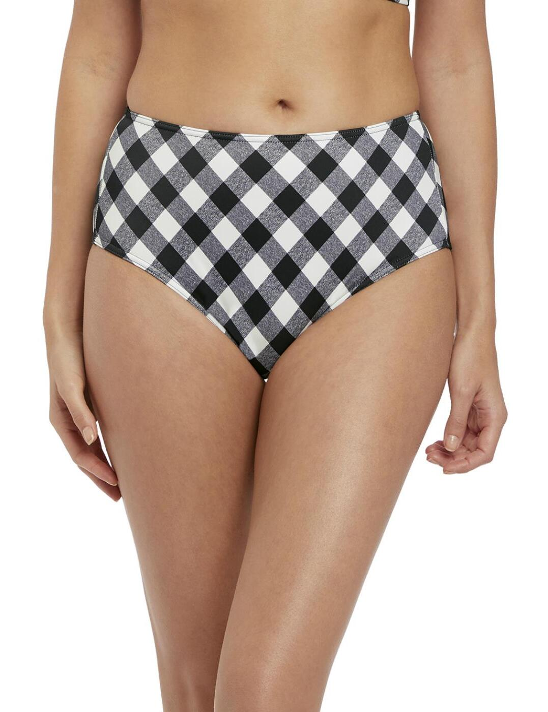 2928 Freya Totally Check High Waist Bikini Brief - 2928 Monochrome