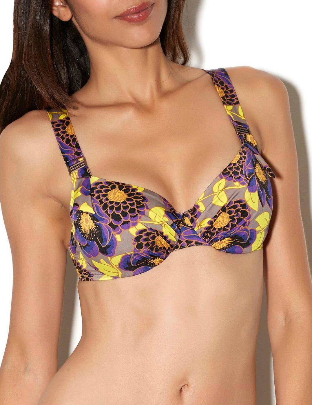 AJ15 Aubade Songe Tropical 3/4 Cup Bikini Top - AJ15 Granite