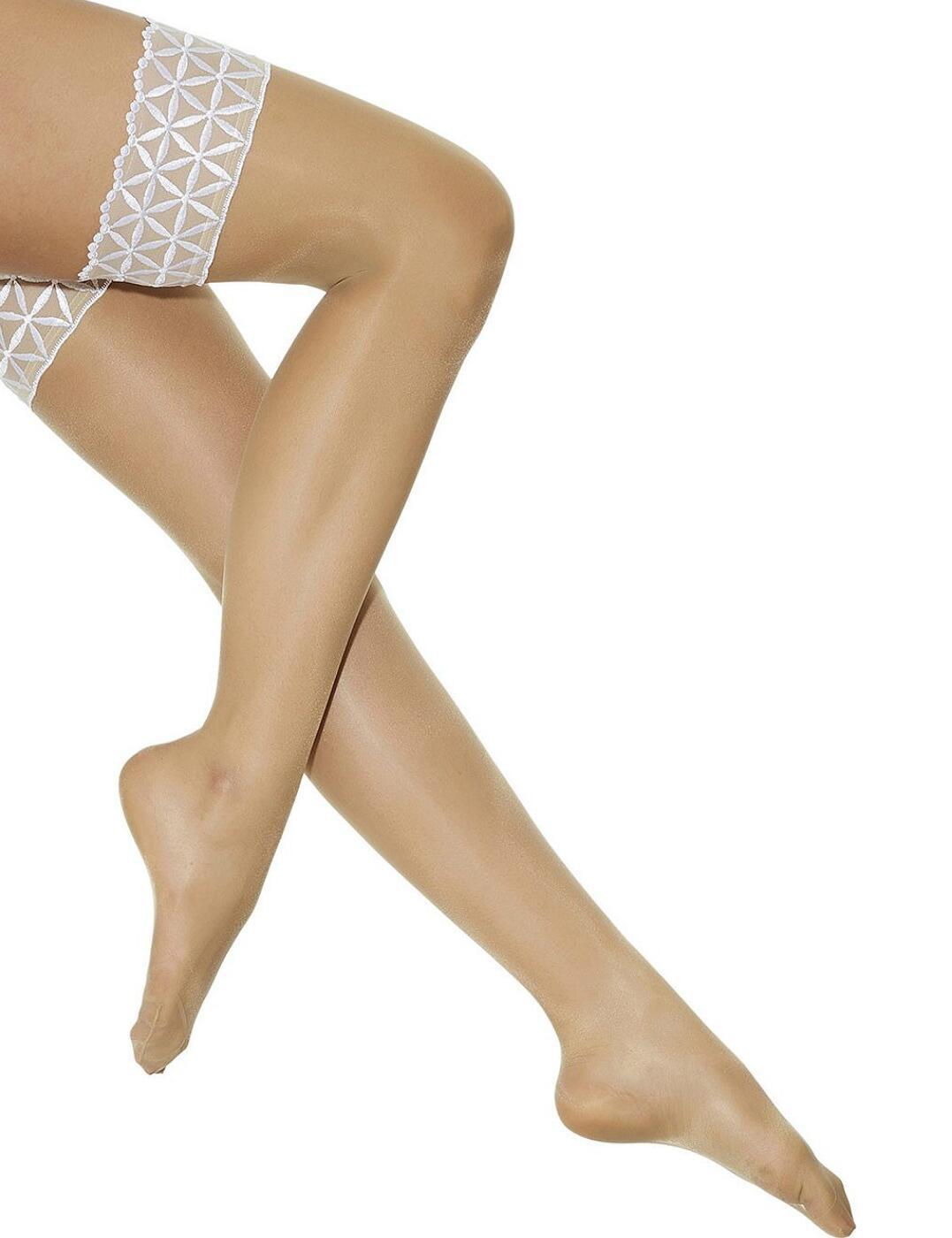 5098/703307 Aubade Bahia Stay Up Stockings - 5098/703307 Blanc