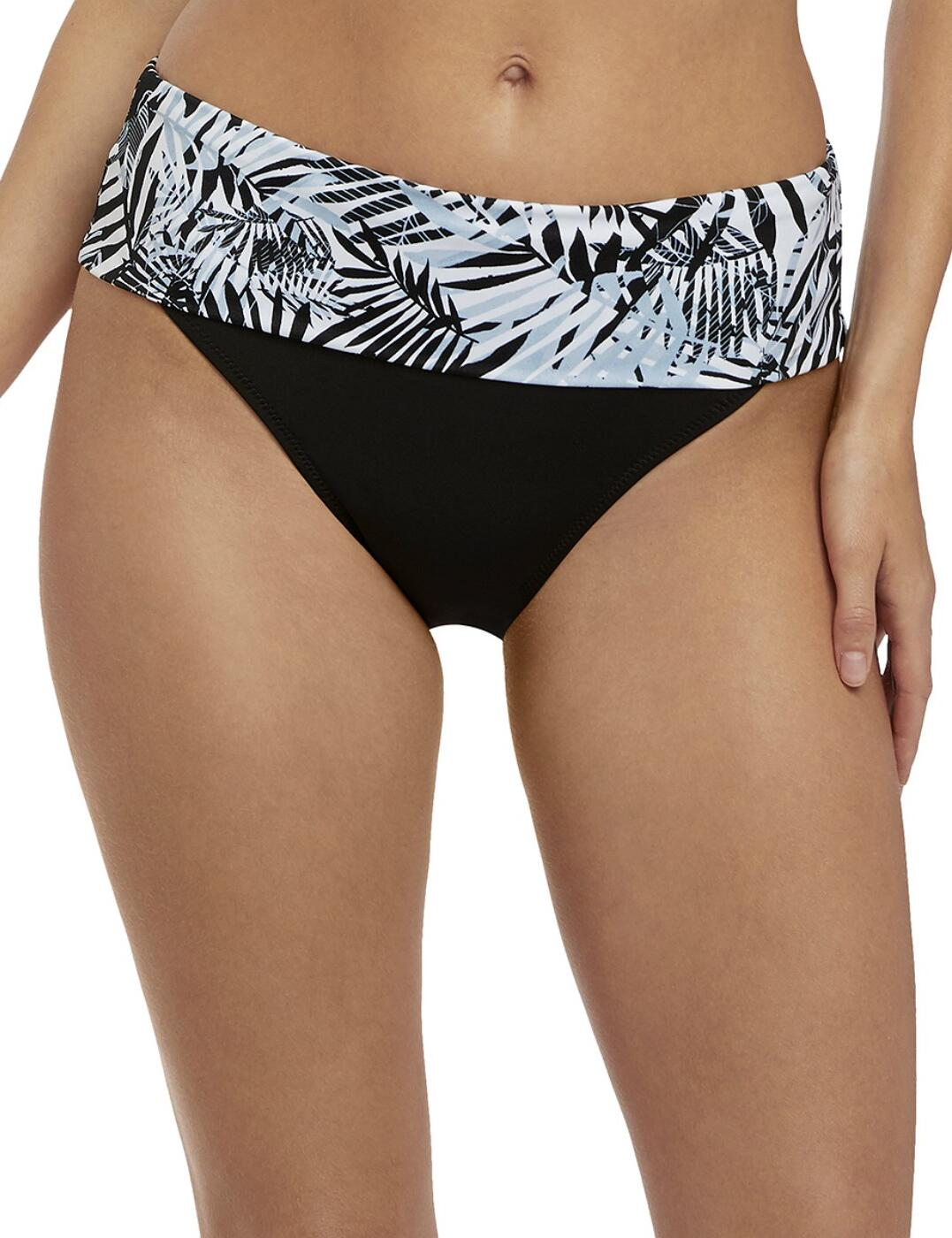 6490 Fantasie Kiso Valley Classic Fold Bikini Brief - 6490 Monochrome
