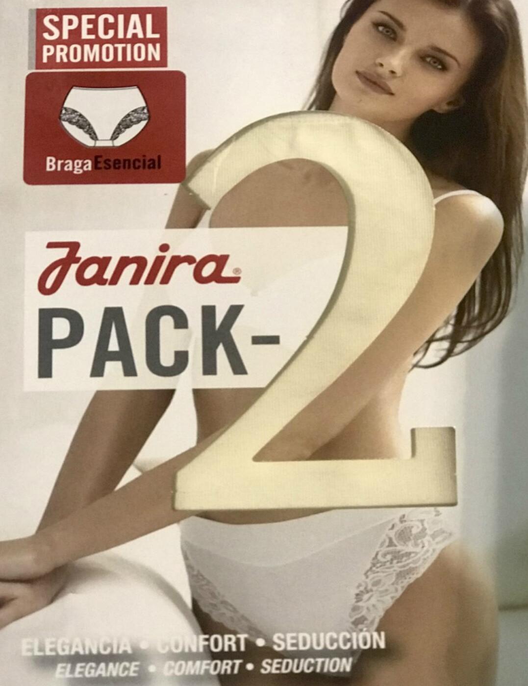 1031398 Janira Essential Braga Brief (2 Pack) - 1031398 Nacre