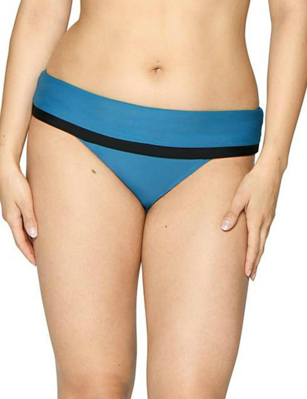 CS002503 Curvy Kate Rock The Pool Foldover Bikini Brief - CS002503 Petrol