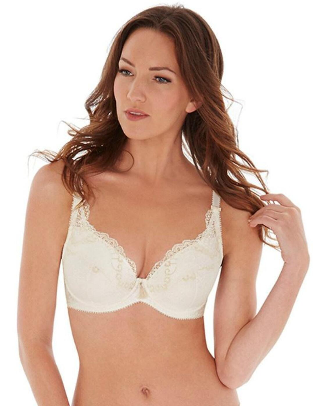 1551020 Charnos Bailey Padded Plunge Bra - 1551020 Ivory