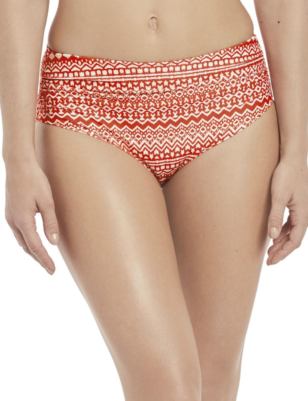 6434 Fantasie Sidari Deep Gathered Bikini Brief - 6434 Grenadine