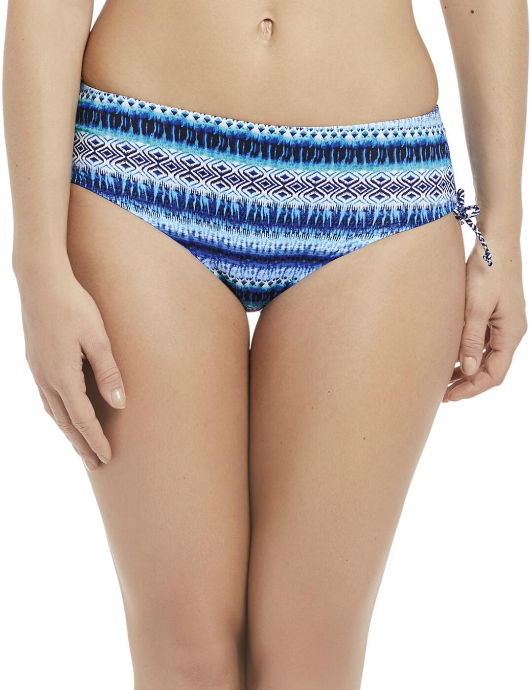 6459 Fantasie La Manga Mid Rise Adjustable Leg Bikini Brief - 6459 Pacific