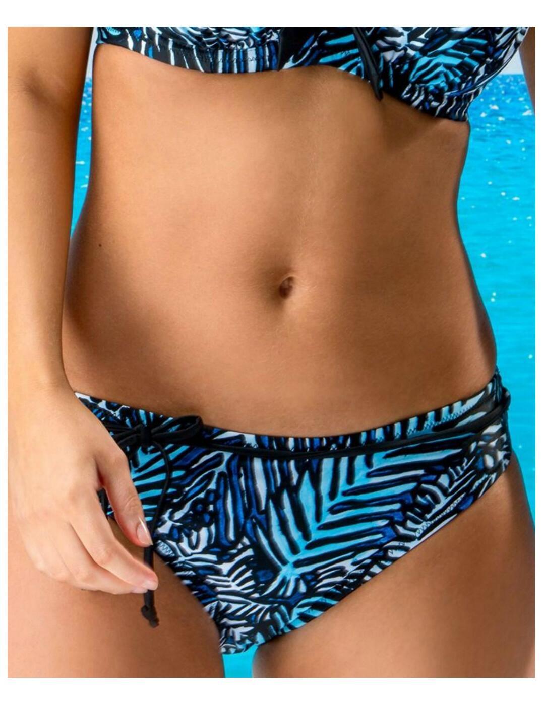 45005 Pour Moi Barracuda Belted Bikini Brief - 45005 Blue/Black