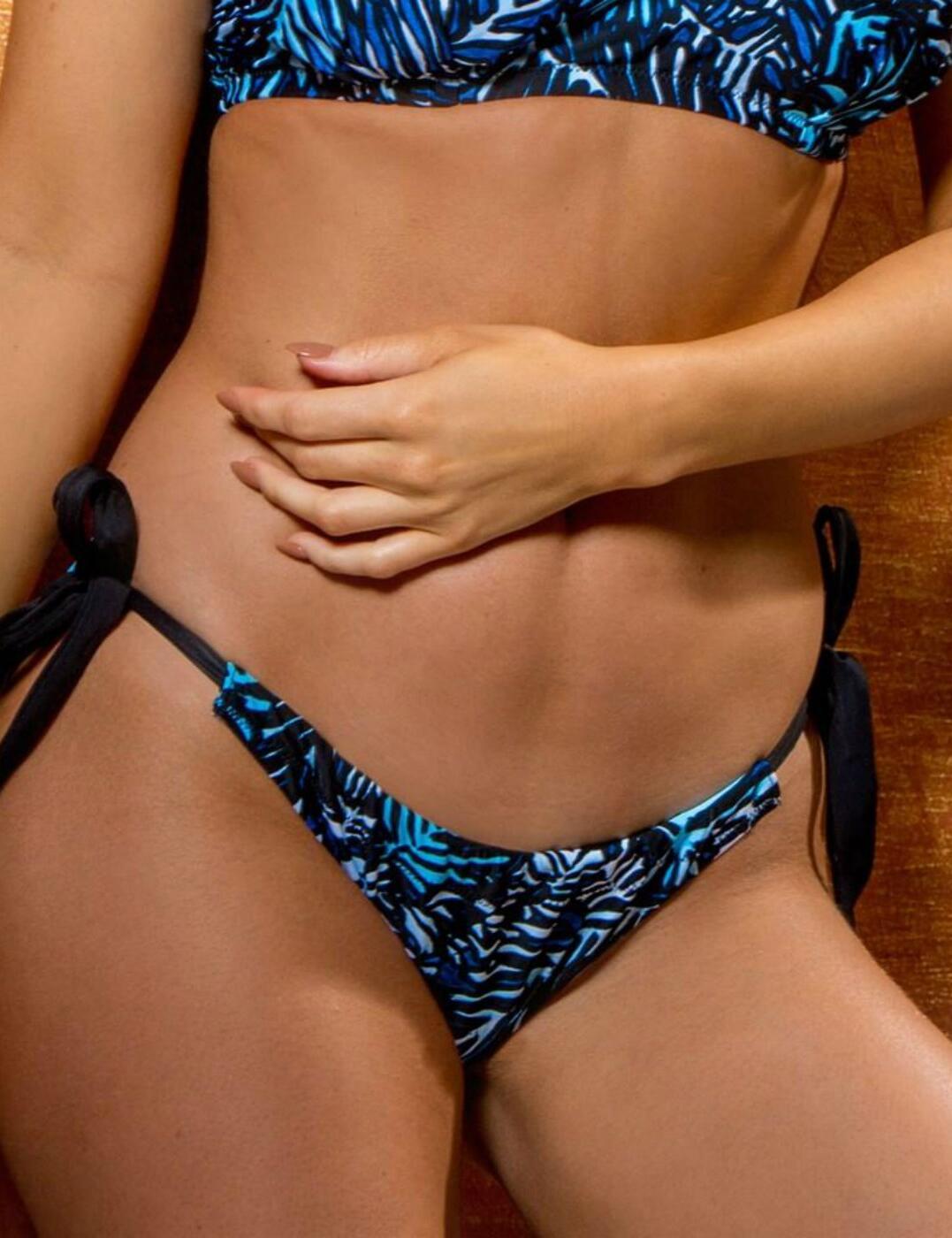 45004 Pour Moi Barracuda Tie Bikini Brief - 45004 Black/Blue