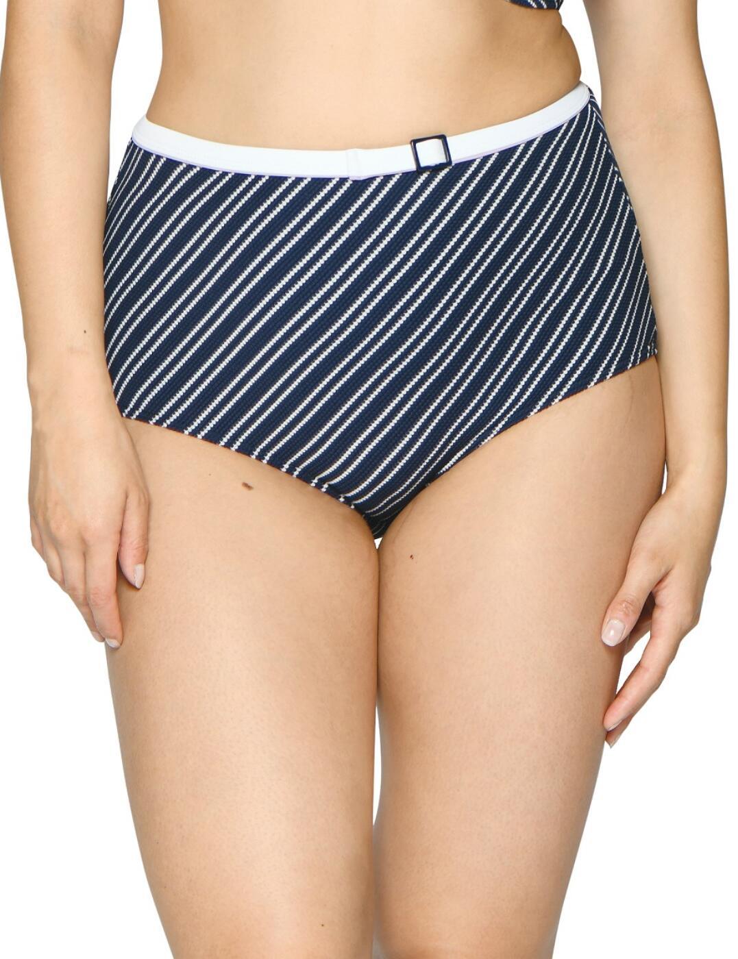 CS003505 Curvy Kate Sailor Girl High Waist Bikini Brief - CS003505 Navy