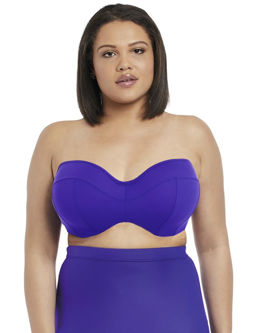 7532 Elomi Essentials Underwired Bandeau Bikini Top - 7532 Indigo